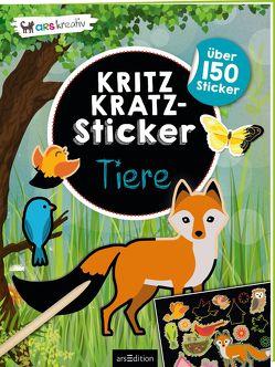 Kritzkratz-Sticker Tiere von Schindler,  Eva