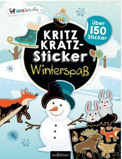 Kritzkratz-Sticker Winterspaß von Schindler,  Eva