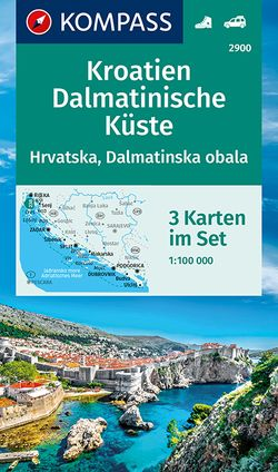 KOMPASS Wanderkarte Kroatien, Dalmatinische Küste von KOMPASS-Karten GmbH