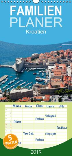 Kroatien – Familienplaner hoch (Wandkalender 2019 , 21 cm x 45 cm, hoch) von Scholz,  Frauke