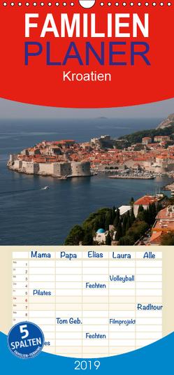 Kroatien – Familienplaner hoch (Wandkalender 2019 , 21 cm x 45 cm, hoch) von Schickert,  Peter