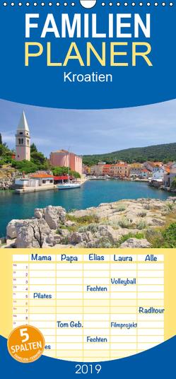 Kroatien – Familienplaner hoch (Wandkalender 2019 , 21 cm x 45 cm, hoch) von LianeM