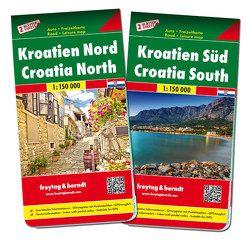 Kroatien Nord und Süd, Autokarten Set 1:150.000 von Freytag-Berndt und Artaria KG