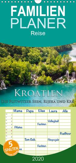 Kroatien – Plitwitzer Seen, Rijeka und Krk – Familienplaner hoch (Wandkalender 2020 , 21 cm x 45 cm, hoch) von Janka,  Rick