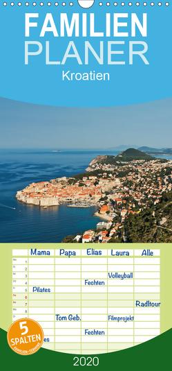 Kroatien, Terminplaner – Familienplaner hoch (Wandkalender 2020 , 21 cm x 45 cm, hoch) von Kirsch,  Gunter