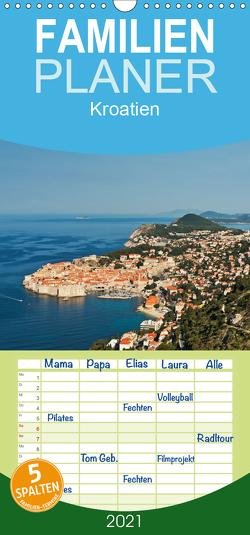Kroatien, Terminplaner – Familienplaner hoch (Wandkalender 2021 , 21 cm x 45 cm, hoch) von Kirsch,  Gunter