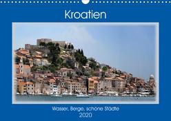 Kroatien – Wasser, Berge, schöne Städte (Wandkalender 2020 DIN A3 quer) von Frank,  Rolf