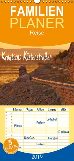 Kroatiens Küstenstraßen – Familienplaner hoch (Wandkalender 2019 , 21 cm x 45 cm, hoch) von LianeM