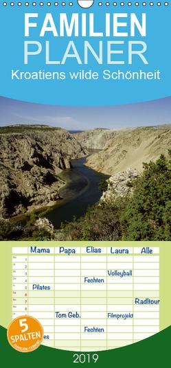 Kroatiens wilde Schönheit – Familienplaner hoch (Wandkalender 2019 , 21 cm x 45 cm, hoch) von Erlwein,  Winfried