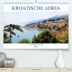 Kroatische Adria – Von Opatija bis Krk (Premium, hochwertiger DIN A2 Wandkalender 2021, Kunstdruck in Hochglanz) von Albilt,  Rabea