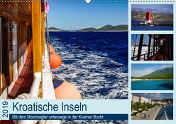 Kroatische Inseln – Mit dem Motorsegler unterwegs in der Kvarner Bucht (Wandkalender 2019 DIN A2 quer) von Liedtke Reisefotografie,  Silke