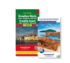Kroatische Küste Set, Kulturführer + Autokarte 1:200.000