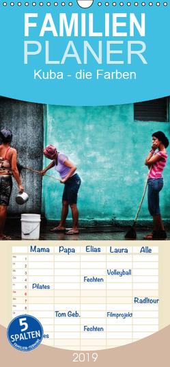 Kuba – die Farben – Familienplaner hoch (Wandkalender 2019 , 21 cm x 45 cm, hoch) von Pagga,  Udo