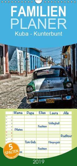 Kuba – Kunterbunt – Familienplaner hoch (Wandkalender 2019 , 21 cm x 45 cm, hoch) von Sommer,  Hans-Jürgen