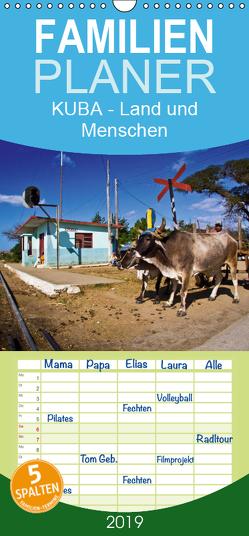 KUBA – Land und Menschen – Familienplaner hoch (Wandkalender 2019 , 21 cm x 45 cm, hoch) von Thiel (www.folkshow.de),  Marco