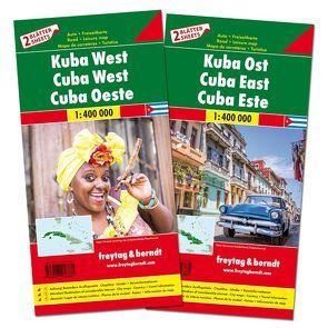 Kuba West und Ost, Autokarten Set 1:400.000 von Freytag-Berndt und Artaria KG