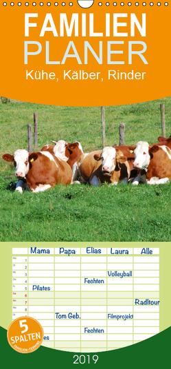 Kühe, Kälber, Rinder – Familienplaner hoch (Wandkalender 2019 , 21 cm x 45 cm, hoch) von Glineur,  Jean-Louis