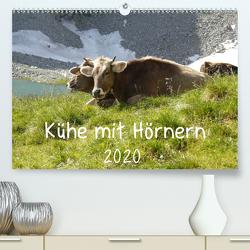 Kühe mit Hörnern (Premium, hochwertiger DIN A2 Wandkalender 2020, Kunstdruck in Hochglanz) von Goldscheider,  Stefanie
