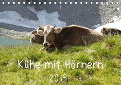 Kühe mit Hörnern (Tischkalender 2019 DIN A5 quer) von Goldscheider,  Stefanie