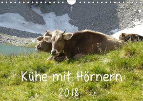 Kühe mit Hörnern (Wandkalender 2018 DIN A4 quer) von Goldscheider,  Stefanie