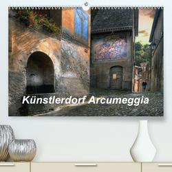Künstlerdorf Arcumeggia (Premium, hochwertiger DIN A2 Wandkalender 2021, Kunstdruck in Hochglanz) von Kalkhof,  Joachim