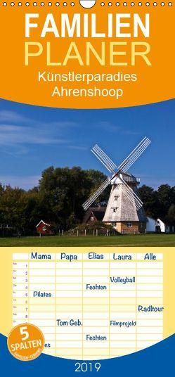 Künstlerparadies Ahrenshoop – Familienplaner hoch (Wandkalender 2019 , 21 cm x 45 cm, hoch) von boeTtchEr,  U