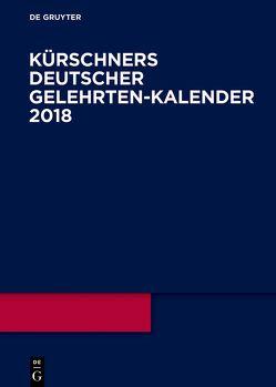 Kürschners Deutscher Gelehrten-Kalender / 2018