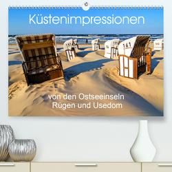 Küstenimpressionen von den Ostseeinseln Rügen und Usedom (Premium, hochwertiger DIN A2 Wandkalender 2020, Kunstdruck in Hochglanz) von Ferrari,  Sascha