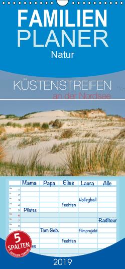 Küstenstreifen an der Nordsee – Familienplaner hoch (Wandkalender 2019 , 21 cm x 45 cm, hoch) von Bergmann,  Kathleen