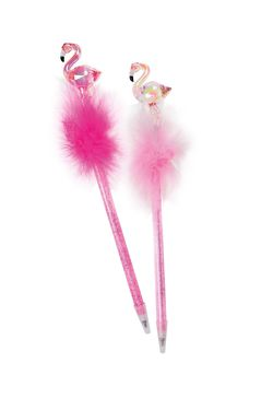 "Kugelschreiber ""Flamingo"" Stift, Geschenkidee, Federn, Puschel, Kristall"