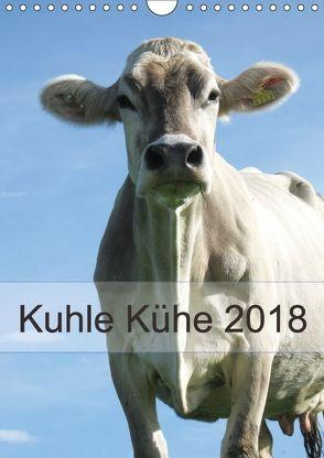Kuhle Kühe 2018 (Wandkalender 2018 DIN A4 hoch) von Dietsch,  Monika