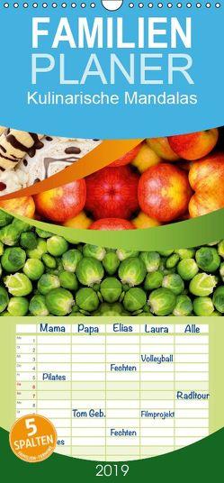 Kulinarische Mandalas – Familienplaner hoch (Wandkalender 2019 , 21 cm x 45 cm, hoch) von Shayana Hoffmann,  Gaby