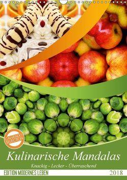 Kulinarische Mandalas (Wandkalender 2018 DIN A3 hoch) von Shayana Hoffmann,  Gaby