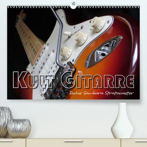 KULT GITARRE – Richie Sambora Stratocaster (Premium, hochwertiger DIN A2 Wandkalender 2020, Kunstdruck in Hochglanz) von Bleicher,  Renate