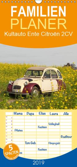 Kultauto Ente Citroën 2CV – Familienplaner hoch (Wandkalender 2019 , 21 cm x 45 cm, hoch) von Bölts,  Meike