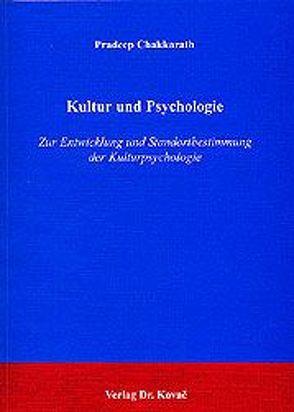 Kultur und Psychologie von Chakkarath,  Pradeep