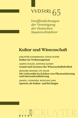Kultur und Wissenschaft von et al., Huster,  Stefan, Ruffert,  Matthias, Schulte,  Martin, Sommermann,  Karl-Peter
