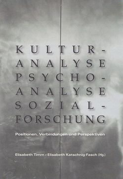 Kulturanalyse – Psychoanalyse – Sozialforschung von Katschnig-Fasch,  Elisabeth, Timm,  Elisabeth