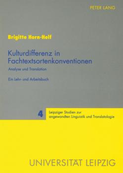 Kulturdifferenz in Fachtextsortenkonventionen von Horn-Helf,  Brigitte