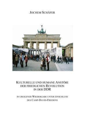 Kulturelle und humane Anstöße der friedlichen Revolution in der DDR von Schäfer,  Jochem