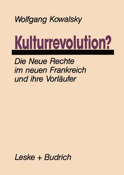 Kulturrevolution? von Kowalsky,  Wolfgang