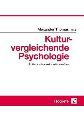 Kulturvergleichende Psychologie von Thomas,  Alexander