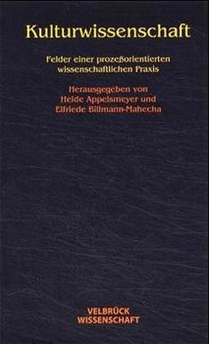 Kulturwissenschaft von Appelsmeyer,  Heide, Billmann-Mahecha,  Elfriede