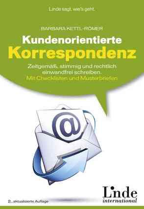 Kundenorientierte Korrespondenz von Kettl-Römer,  Barbara