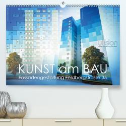 Kunst am Bau – Fassadengestaltung Feldbergstrasse 35 (Premium, hochwertiger DIN A2 Wandkalender 2021, Kunstdruck in Hochglanz) von Allgaier (ullision),  Ulrich