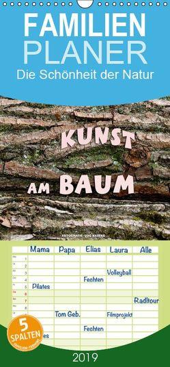 Kunst am Baum – Familienplaner hoch (Wandkalender 2019 , 21 cm x 45 cm, hoch) von Haafke,  Udo