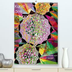 Kunst des Polygons (Premium, hochwertiger DIN A2 Wandkalender 2020, Kunstdruck in Hochglanz) von Seidel,  István