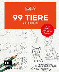 Kunst kompakt: 99 Tiere zeichnen Step by Step von Edition Michael Fischer