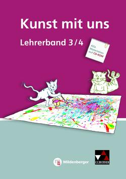 Kunst mit uns / Kunst mit uns LB 3/4 von Brunner,  Verena, Lutz,  Claudia