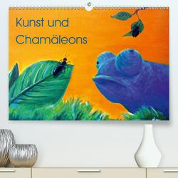 Kunst und Chamäleons (Premium, hochwertiger DIN A2 Wandkalender 2021, Kunstdruck in Hochglanz) von Knyssok,  Sonja
